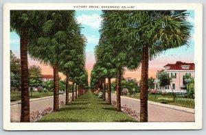 Savannah Georgia~Victory Drive~Pal Tree Line Boulevard~Huge Home w/Dormers~1920s