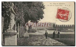 Old Postcard Park of Versailles A Green Carpet corner