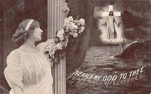 Titanic Ship Post Card Old Vintage Antique Nearer My God to Thee Unused