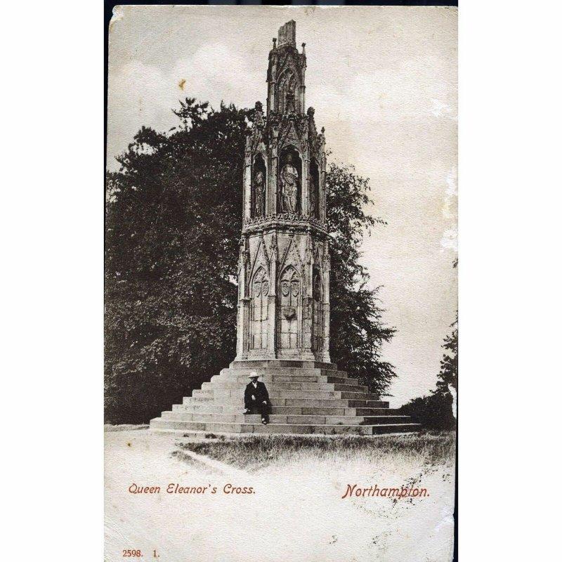Hartmann Photographic Postcard 'Queen Eleanor's Cross. Northampton'