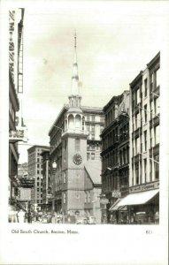 USA - Old South Church Boston Massachusetts RPPC 04.26