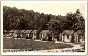 RENFRO VALLEY, Kentucky RPPC Postcard CLINE Photo Cabins View c1940s Unused