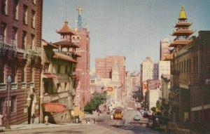 SAN FRANCISCO, California, 1950-60s; Street in Chinatown