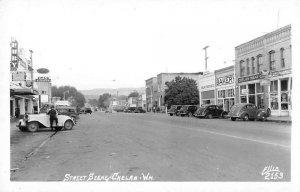 Chelan Washington Street Scene Real Photo Vintage Postcard AA12947