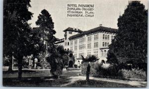 Pasadena, California Postcard HOTEL PASADENA Popular Priced European Plan c1920s