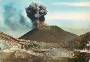 Postcard Italy Etna il piu alto vulcano europa activity of little crater vulcano