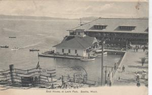 SEATTLE, Washington, PU-1906; Boat House at Leshi Park