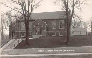 B43/ Sac City Iowa Ia Real Photo RPPC Postcard c1920 Public Library Building