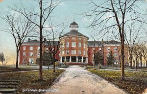 Greensboro North Carolina GF College Street View Antique Postcard K38808