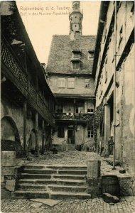 CPA AK Rothenburg- Hof in der Marien Apotheke GERMANY (940958)
