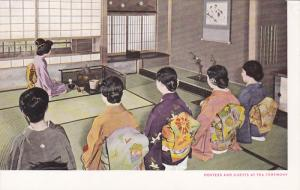 Japanese Hostess and Guests at Tea Ceremony or Chanoya, 20-30s