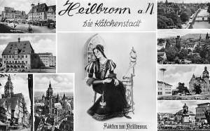 Heilbronn die Kaetchenstadt multiviews Rathaus Marktplatz Hauptbahnhof Denkmal