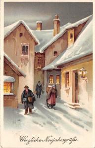 BG8580 winter landscape neujahr new year greetings germany