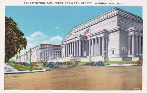 Constitution Avenue West From 7th Street Washington DC