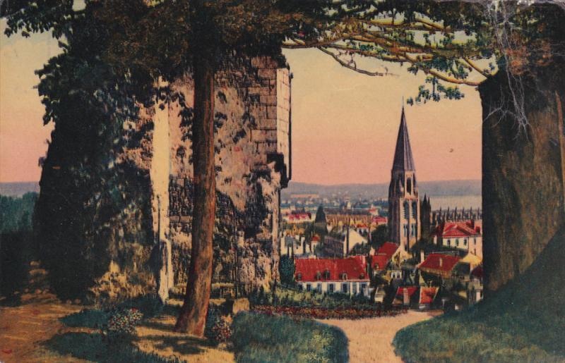 VENDOME, Tour de l'Eperon, Eglise de la Trinite, Loir et Cher, France, PU-1962