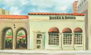 Books & Books Bookstore South Florida Shop Oil Painting Postcard
