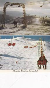 2-Views, Skier's Paradise, Chairlifts, Silver Star Mountain, Vernon, British ...