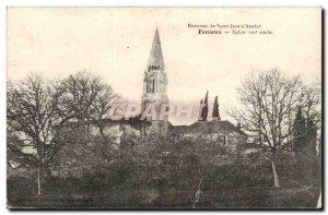Fenioux Postcard Ancient Church Around Saint Jean d & # 39angely