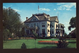 Springfield, Illinois/IL Postcard, View Of The Illinois Governor's Mansion