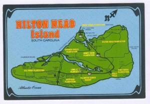 Map, Hilton Head Island, South Carolina, 70-80s