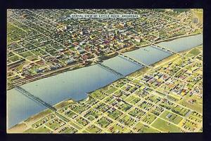 Little Rock, Arkansas/AR Postcard, Beautiful Aerial View!