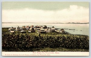 North Weymouth Massachusetts~Fort Point Homes Cottages Inns~Beach~Dock~c1905