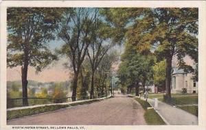Vermont Bellows Falls Westminster Street 1922