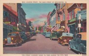 Virginia Winchester Loudon Street Main Street Of Winchester