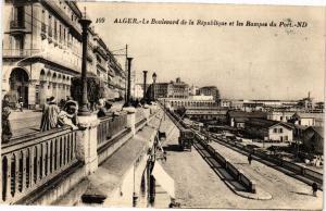CPA Algérie-Alger-Le Boulevard de la République et les Rampes du Port (236689)
