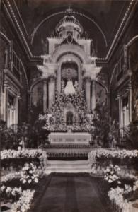 Cuba Havana Our Lady Of Mercy Church Main Altar Illuminated Real Photo