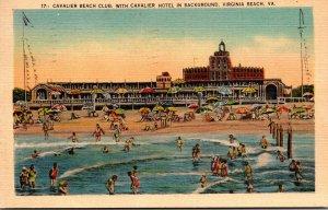 Virginia Virginia Beach Cavalier Beach Club With Cavalier Hotel In Background...