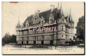 Old Postcard Azay le Rideau Chateau National