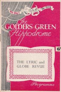 The Lyric & Globe Revue Golders Green Musical Theatre Programme
