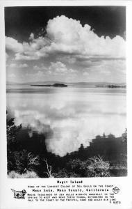 1940s Frasher Mono California Negit Island RPPC real photo postcard 12121