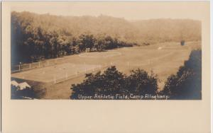 West Virginia WV RPPC Postcard CAMP ALLEGHENY Greenbrier County ATHLETIC FIELD