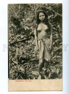 147490 SINGAPORE Nude girl Wils Sakey Vintage postcard