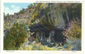 Cliff Dwellings, Walnut Canyon near Flagstaff, Arizona,  AZ, Linen