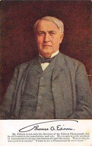 Advertising Post Card Edison Phonograph Thomas Edison Unused