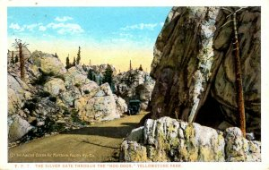 Wyoming - Yellowstone Park - The Silver Gate Through the Hoo Doos - c1920
