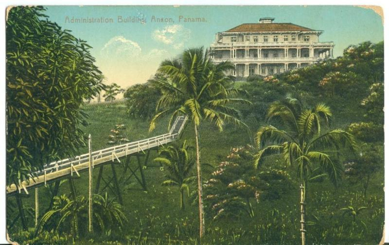 Panama, Administration Building, Ancon, early 1900s unused