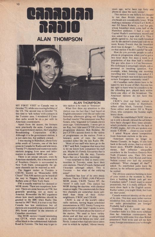 Stuart Henry Capital Canadian Radio Keith Ashton 1975 Magazine