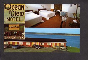 NS Ocean View Motel Cheticamp Nova Scotia Canada Carte Postale Cabot Postcard