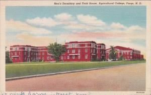 North Dakota Fargo Men's Dormitory and Field House Agricultural College 1943 ...
