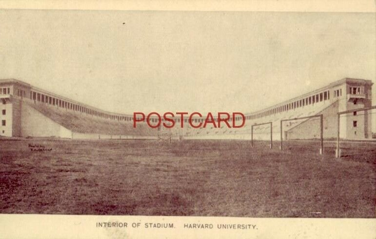 INTERIOR OF STADIUM - HARVARD UNIVERSITY