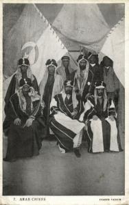 iraq, Group of Arab Chiefs (1930s) Postcard