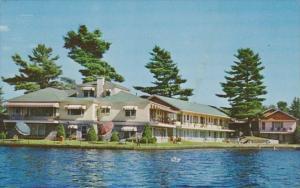 New York Saranac Lake Gauthier's Lake Flower Motel Lake Placid Road Route 86