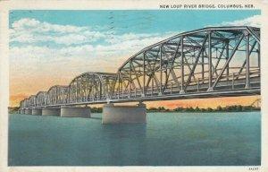 COLUMBUS , Nebraska , 1925 ; New Loup River Bridge