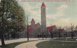 BUFFALO, New York, PU-1912; Porter Ave. Circle & 1st Presbyterian Church