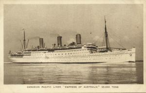 Canadian Pacific Line Steamer Empress of Australia (1920s)