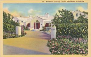 California Brentwood Residence Of Gary Cooper Curteich